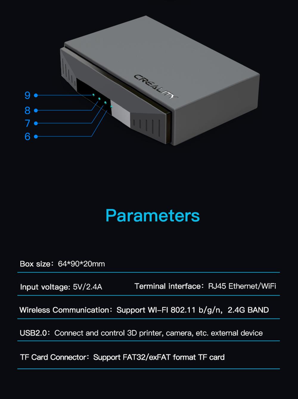 Creality3D WiFi Box CWB - Technische Daten