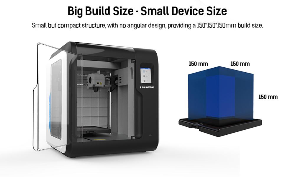 Flashforge Adventurer 3 3D-Drucker - 150x150x150mm - Großer Bauraum - Kleines Gerät