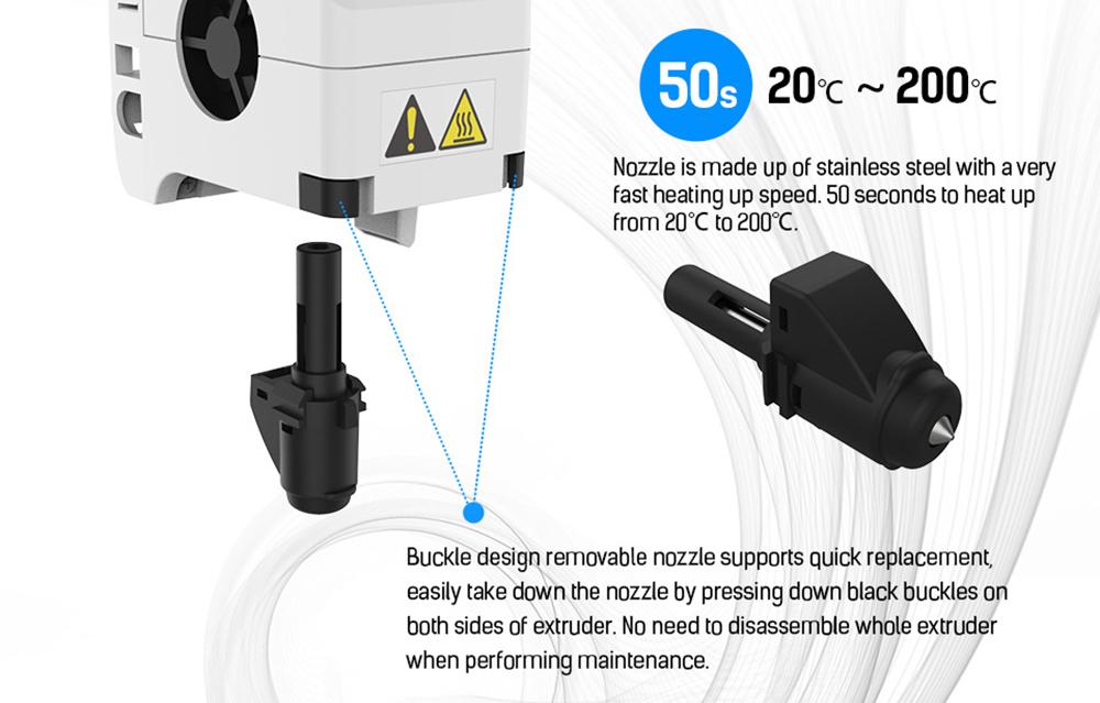 Flashforge Adventurer 3 3D-Drucker - 150x150x150mm - Schnelles Aufheizen der Düse