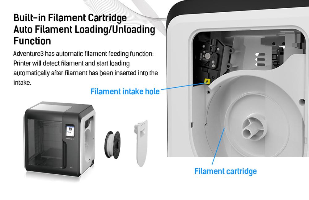 Flashforge Adventurer 3 3D-Drucker - 150x150x150mm - Automatische Filament Zuführung