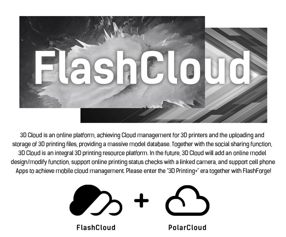 Flashforge Adventurer 3 3D-Drucker - 150x150x150mm - Cloud Management
