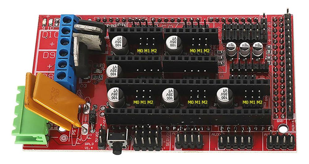 DRV8825 - Schrittmotortreiber (Lila) - Pololu kompatibel - Konfiguration der Jumper auf RAMPS 1.4 Steuerplatine
